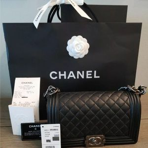 Medium Black Chanel Le Boy